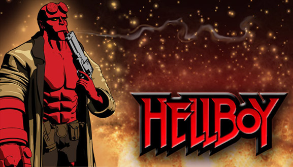 Jaz Creations Hellboy button