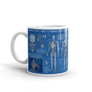 T800 Terminator Blueprint Mug